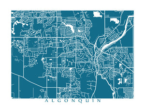 Map of Algonquin, Illinois by CartoCreative