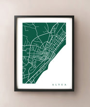 Load image into Gallery viewer, Framed map of Altea, Spain by CartoCreative