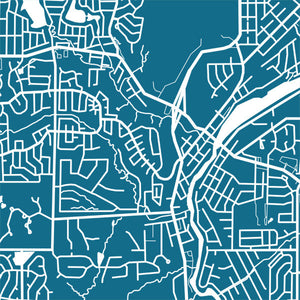 Detail from map of Algonquin, Illinois by CartoCreative