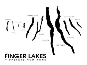 Finger Lakes of Upstate New York Map Print