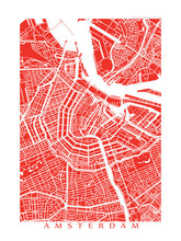 Load image into Gallery viewer, Map of Amsterdam, Netherlands by CartoCreative