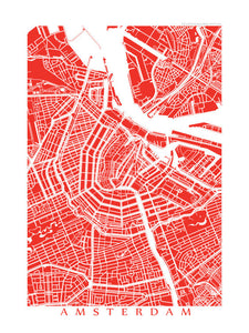 Map of Amsterdam, Netherlands by CartoCreative