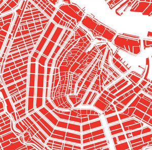 Detail from map of Amsterdam, Netherlands by CartoCreative