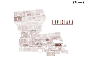 Louisiana Typography