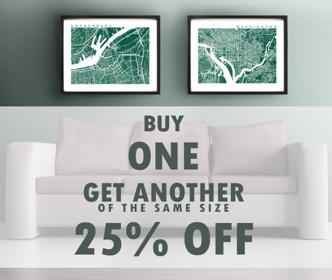 Buy One, Get One of the same for 25% off