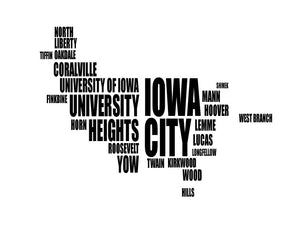 Iowa City Typography