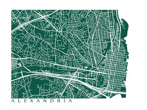 Map of Alexandria, Virginia by CartoCreative