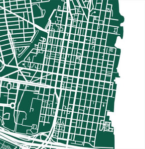 Detail from map of Alexandria, Virginia by CartoCreative