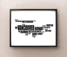 Load image into Gallery viewer, Vancouver Typography
