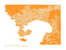 Load image into Gallery viewer, Map of Acapulco, Mexico.