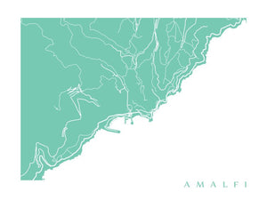 Map of Amalfi, Italy by CartoCreative
