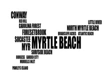 Load image into Gallery viewer, Myrtle Beach Typography