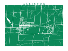 Load image into Gallery viewer, Map of Alliston, Ontario by CartoCreative