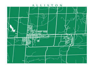 Map of Alliston, Ontario by CartoCreative