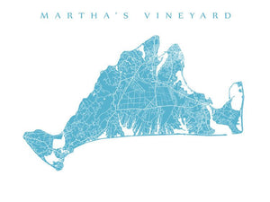 Martha's Vineyard Map, MA