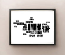 Load image into Gallery viewer, Omaha Typography
