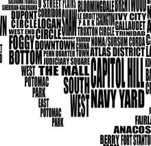 Load image into Gallery viewer, Washington DC Neighborhood Typography