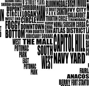 Washington DC Neighborhood Typography