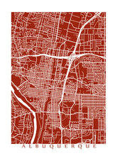 Load image into Gallery viewer, Map of Albuquerque, New Mexico by CartoCreative