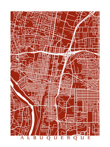 Map of Albuquerque, New Mexico by CartoCreative