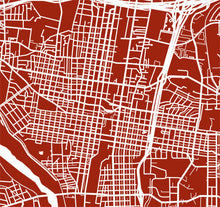 Load image into Gallery viewer, Detail from map of Albuquerque, New Mexico by CartoCreative