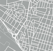 Load image into Gallery viewer, Detail from map of Alzira, Spain by CartoCreative