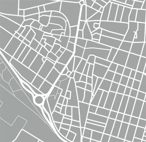 Detail from map of Alzira, Spain by CartoCreative