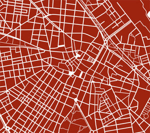 Detail from map of Albacete, Spain by CartoCreative