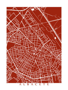 Map of Albacete, Spain by CartoCreative