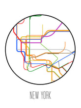 Load image into Gallery viewer, New York City Minimalist Metro