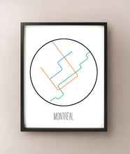 Load image into Gallery viewer, Montréal Minimalist Metro