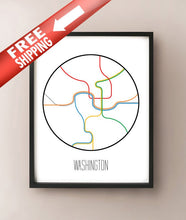 Load image into Gallery viewer, Washington DC Minimalist Metro