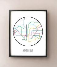 Load image into Gallery viewer, Barcelona Minimalist Metro