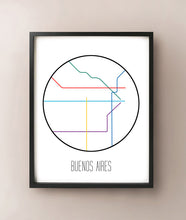 Load image into Gallery viewer, Buenos Aires Minimalist Metro