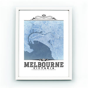 Melbourne Vintage Blueprint