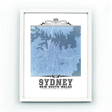 Load image into Gallery viewer, Sydney Vintage Blueprint