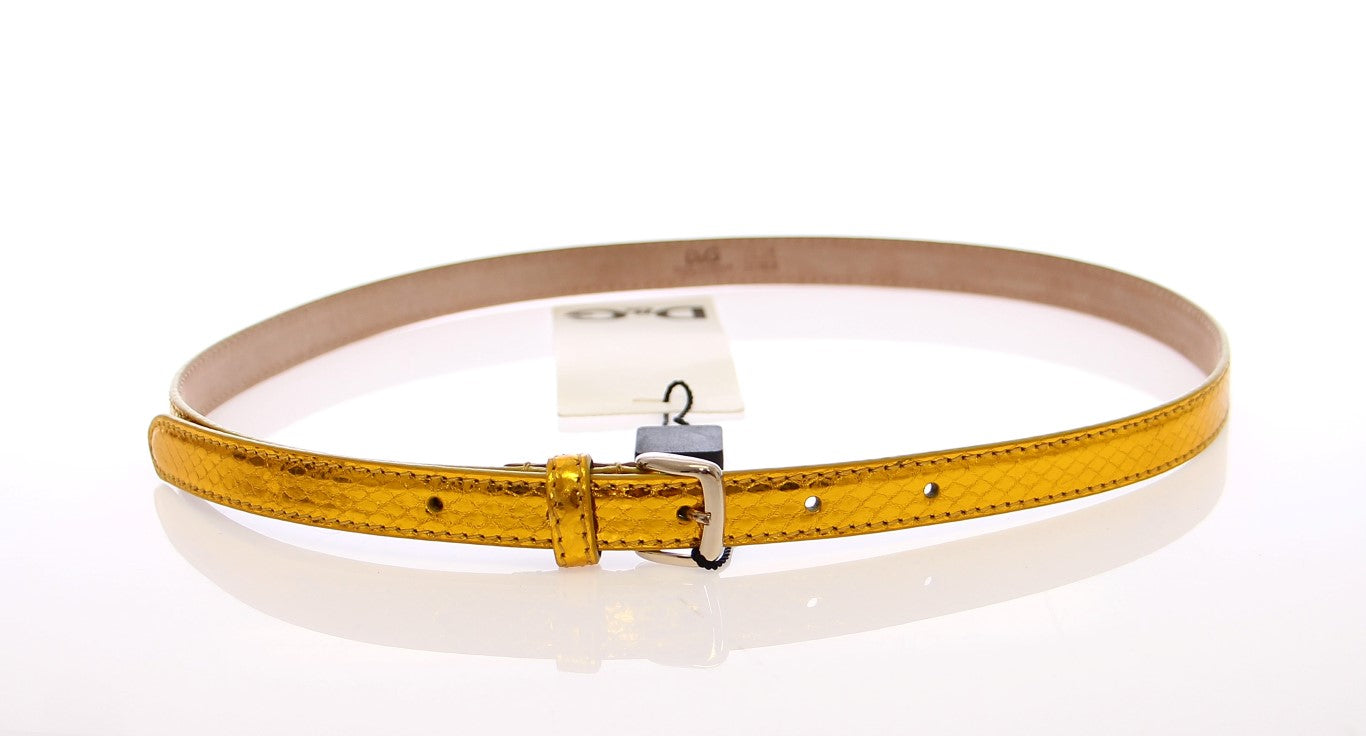 Load image into Gallery viewer, Yellow Snakeskin Logo Belt