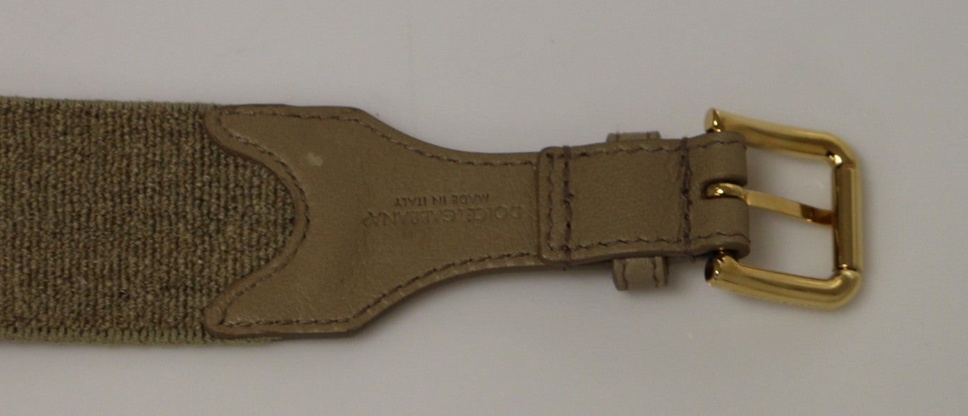 Load image into Gallery viewer, Beige Cotton Linen Logo Belt