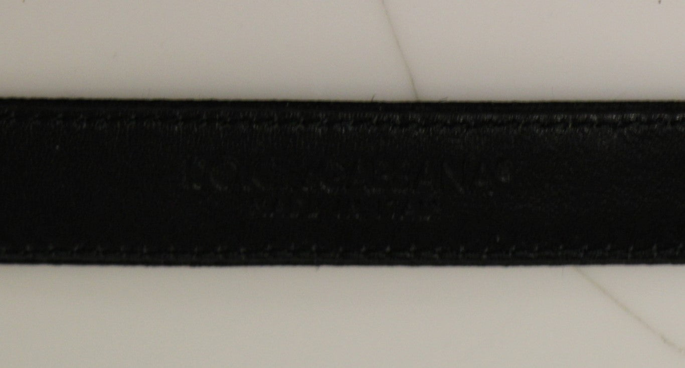 Load image into Gallery viewer, Black Silk Sequined Silver Logo Belt