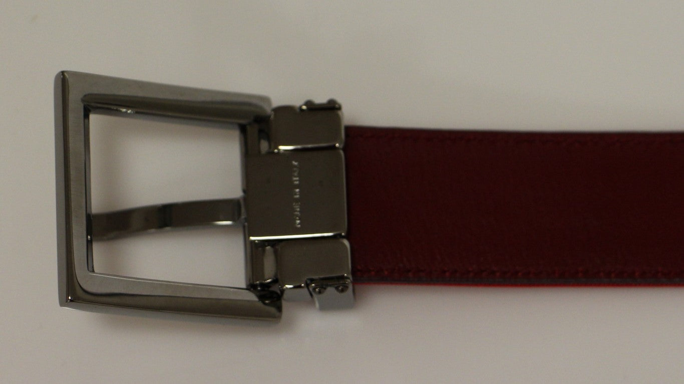 Load image into Gallery viewer, Red Fabric Silver Logo Belt