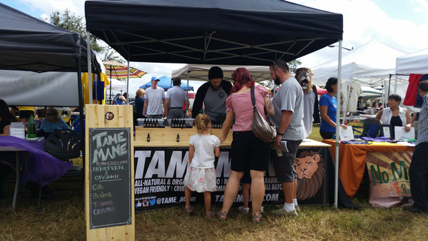 Tame Mane at Central Florida Veg Fest October 2015 - Orlando, FL