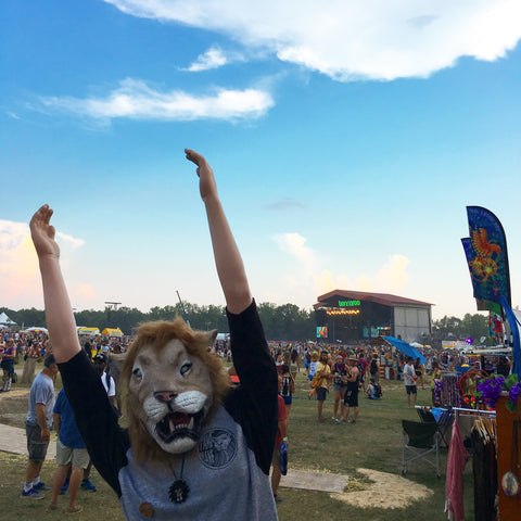 Larry's first Bonnaroo - Tame Mane - June 2016