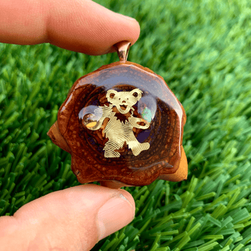 Pinecone Pendant | Citrine/Opal/22k Gold Dancing Bear - Tame Mane