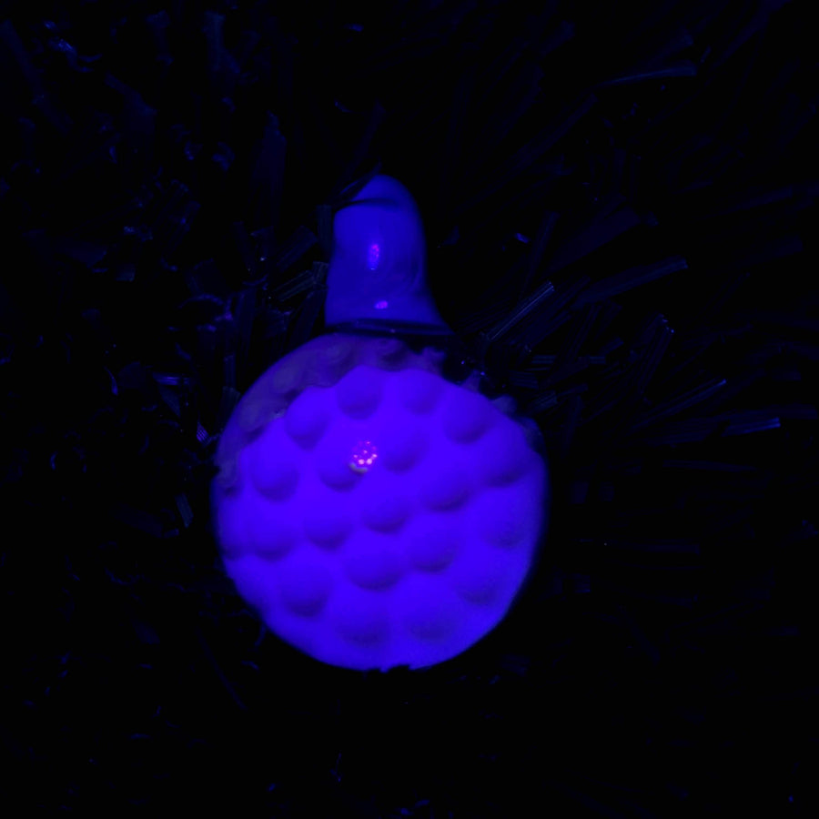 Bubble Trap Implosion Glass Pendant | (UV Reactive) - Tame Mane
