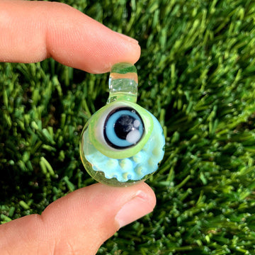 Bubble Trap Monster Glass Pendant | (UV Reactive) - Tame Mane
