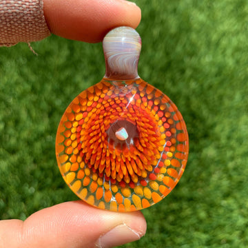 Opal Implosion Glass Pendant - Tame Mane