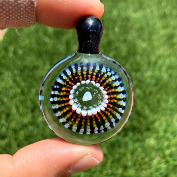 Opal Implosion Glass Pendant (UV) - Tame Mane