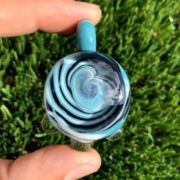 Spiral Vortex Pendant (UV Reactive) - Tame Mane