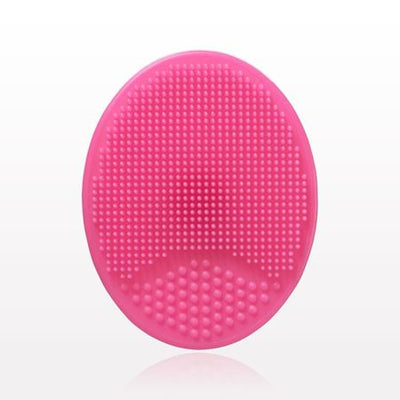 Oval Silicone Facial Cleansing Pad - Hot Pink