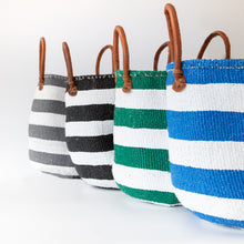 Load image into Gallery viewer, Sisal and Recycled Plastic Basket - Striped (Large)